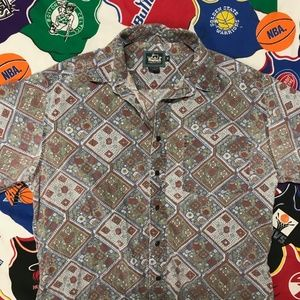 Vintage Woolrich All Over print button up shirt